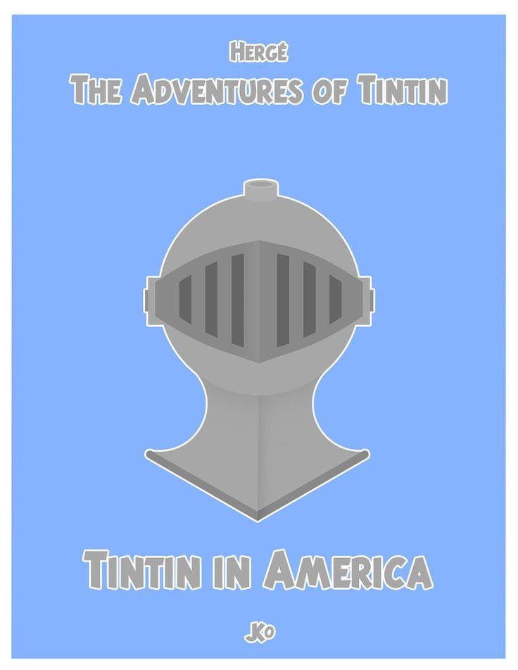 Les Aventures de Tintin - Album Imaginaire - Minimalist - Tintin in America