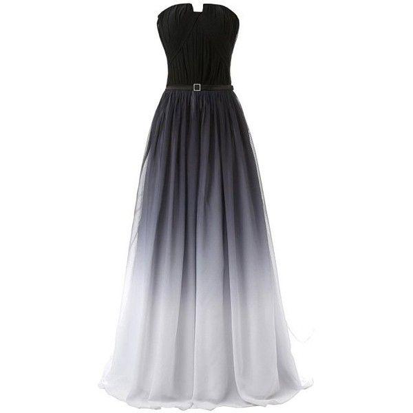 Eudolah Women's Long Sleeveless Strapless Formal/Evening Maxi Dress ($64) ❤ liked on Polyvore featuring dresses, gowns, evening dresses, long cocktail dresses, maxi dresses, sleeveless cocktail dress and formal dresses