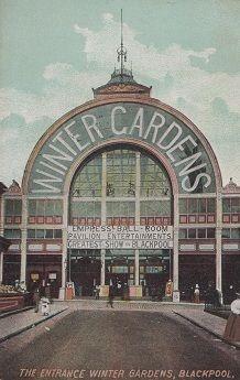 The Winter Gardens Blackpool Entrance Antique Postcard | eBay