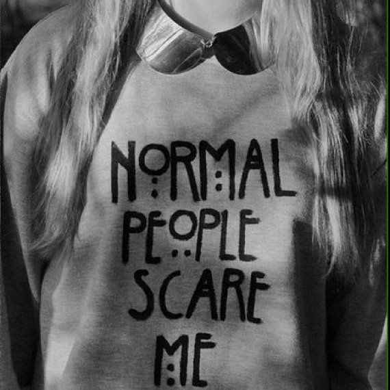 Normal People Scare me grey sweatshirt for women by Stupidfashion, $35.00