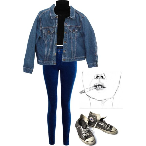 ootd inspiration || sad boys. by dafne16 on Polyvore featuring MM6 Maison Margiela, Levi's, J Brand, Converse and vintage