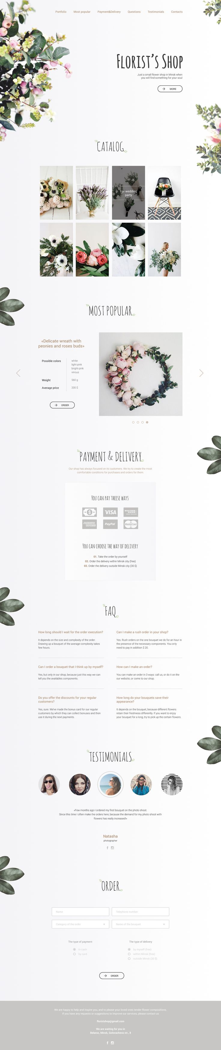 Check out this @Behance project: \u201cLanding page for nonexistent florist's shop\u201d https://www.behance.net/gallery/38076913/Landing-page-for-nonexistent-florists-shop