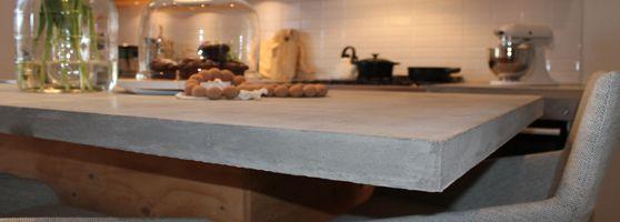 Keukenblad van beton | Eigen Huis & Tuin http://www.dutchdesignbeton.com