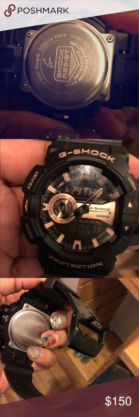 CASIO G-Shock GA400GB-1A4 Black/Rose Gold Watch Like new with. Ok and original box and manual Casio Accessories Watches