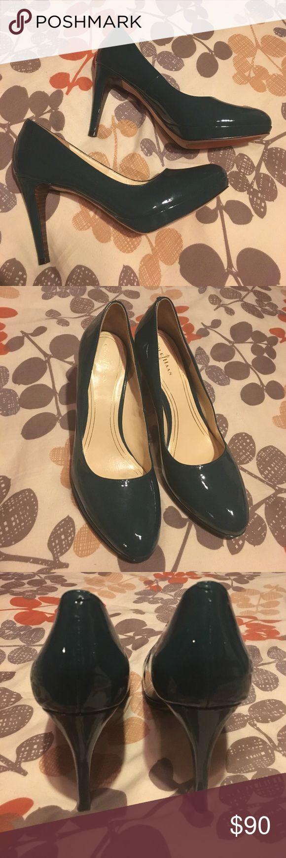 Cole Haan pumps green size 8.5 Nike Air These Cole Haan green heels look brand new like they have never been worn - no box no dust bag included - size 8.5 size - Cole Haan Heels with NikeAir - bundle with other items for lower price 👍🏻🎉 Cole Haan Shoes Heels