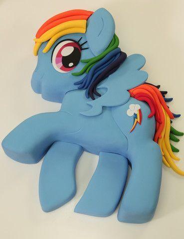 Rainbow Dash My Little Pony Cake - Vanilla Cakes Layered with Fondant – HOW TO CAKE IT