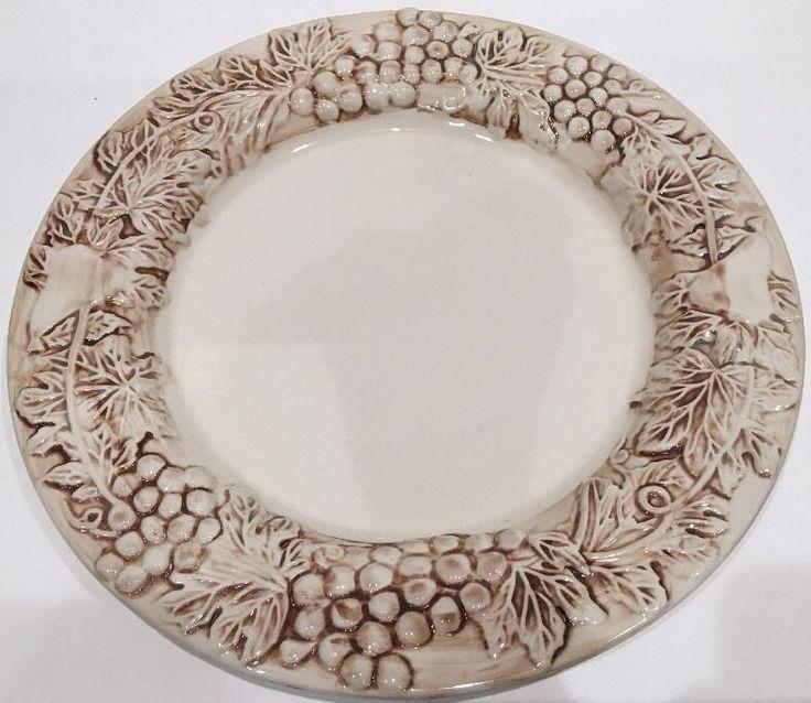 Euro Ceramica Vineyard Dinner Plate #EuroCeramica #ArtDeco