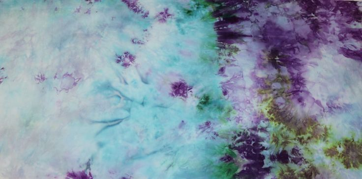 Hand Dyed Cotton Quilt Fabric Aqua, Purple & Green 100% Cotton Hand-Dyed Quilting Fabric #291 by DyedAllReady on Etsy https://www.etsy.com/au/listing/471539104/hand-dyed-cotton-quilt-fabric-aqua