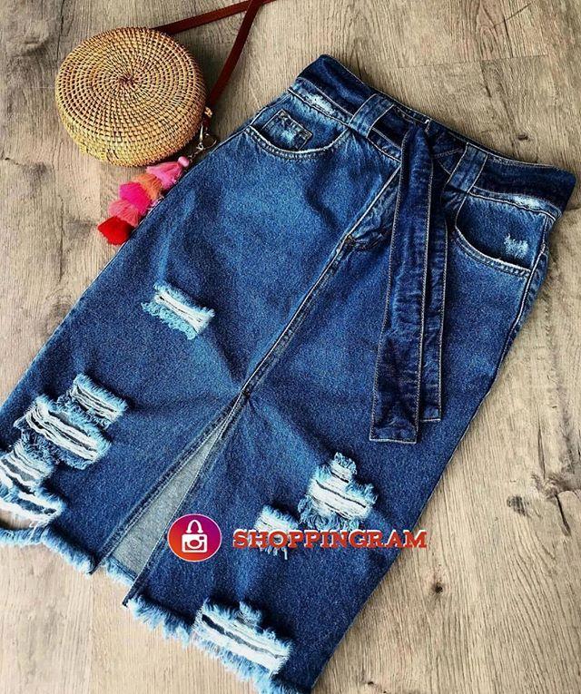 9ce957df9 Compras e dúvidas @lojanegafuloo Saia MIDI jeans!! . Repostagem autorizada:  @lojanegafuloo Não nos responsabilizamos pelas negociações e produtos ...