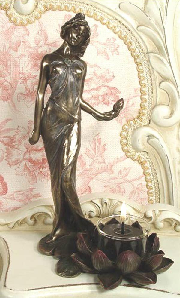 Art Nouveau Candlestick with Figure Women    https://www.artexperiencenyc.com/social_login/?utm_source=pinterest_medium=pins_content=pinterest_pins_campaign=pinterest_initial
