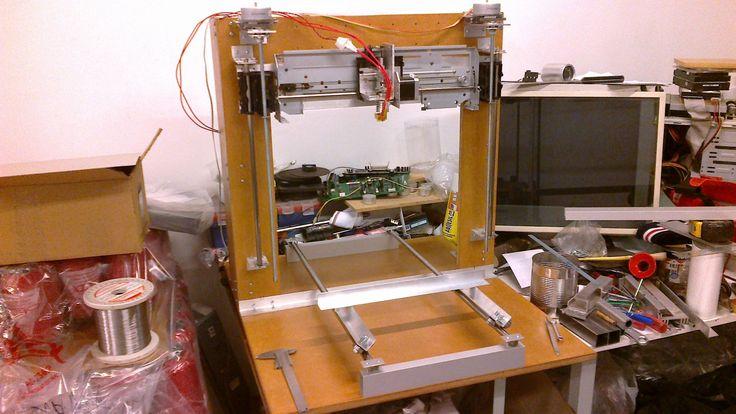 Impresora 3D Casera, con partes recicladas, 2ra parte