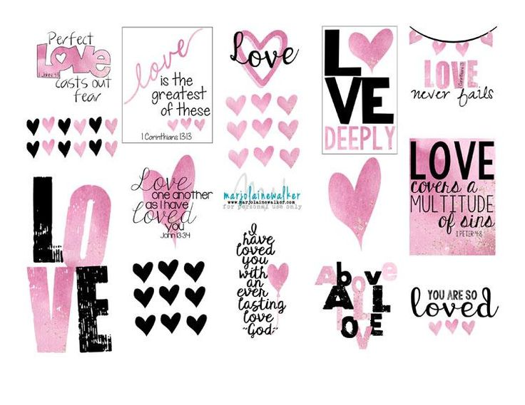 Free Valentine Printable from Twelve Stones Scrapbooking. Great for use in #biblejournaling or #scrapbooking #freeprintable
