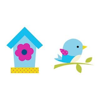 Dibujo de pájaro y casita