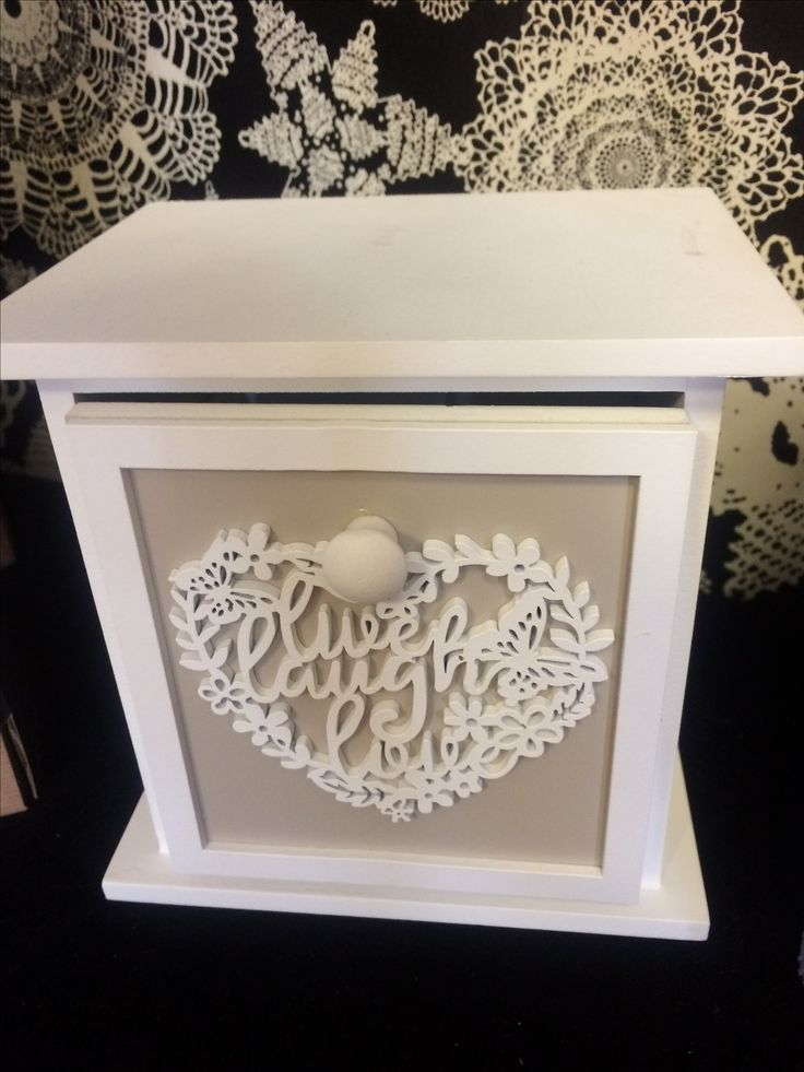 Vintage shabby chic style miniature dresser with drawer, for sale in our hospice gift shop.