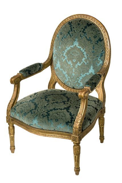 One of Four Arm Antique Chairs From a Set of Louis XVI Style Seat Antique Furniture