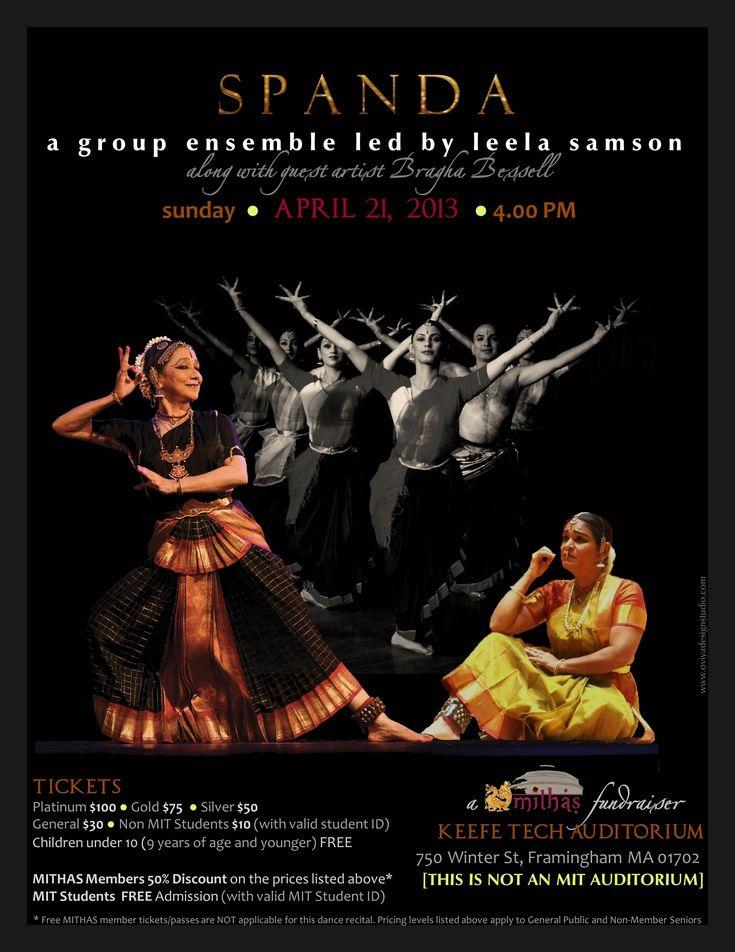 Poster for Bharatanatyam Dance Performance by Leela Samson