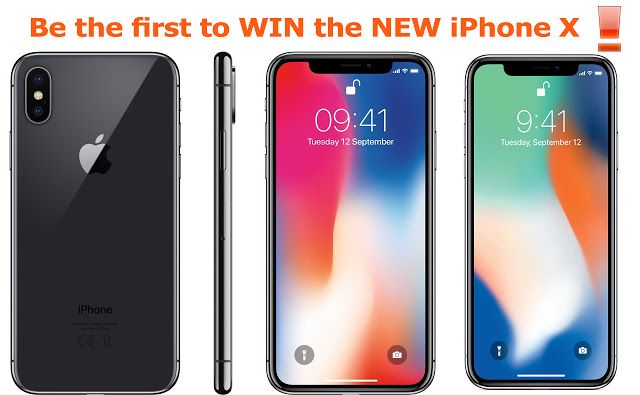 Be the first to WIN the NEW iPhone X! #iphonex