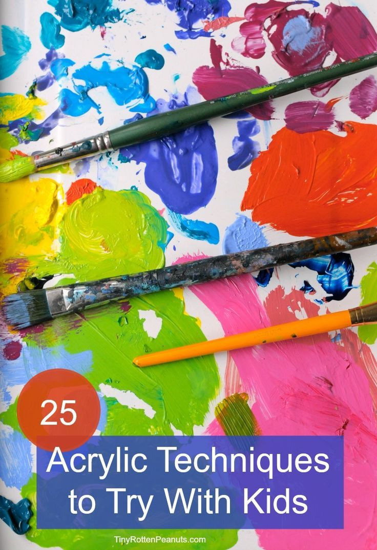 25 acrylic painting techniques • acrylic painting for kids