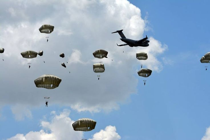 FORT BENNING, Ga. -- More than 400 Rangers from the 75th Ranger Regiment participate in airborne operations to begin 2015 Ranger Rendezvous at Fryar Drop Zone, 22 June. (Photo by Sgt. 1st Class Michael R. Noggle, 75th Ranger Regiment Public Affairs NCOIC / Released)
