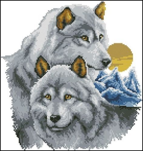 Wolfs Cross Stitch Pattern Chart