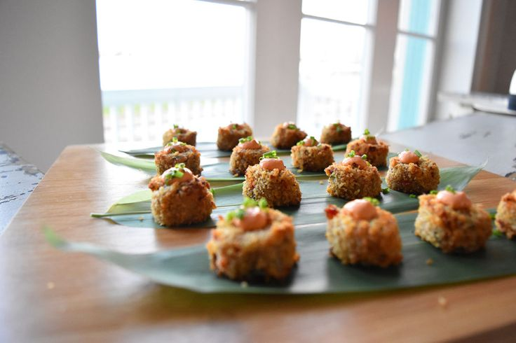 Appetizers served at a private party at Marche New Orleans