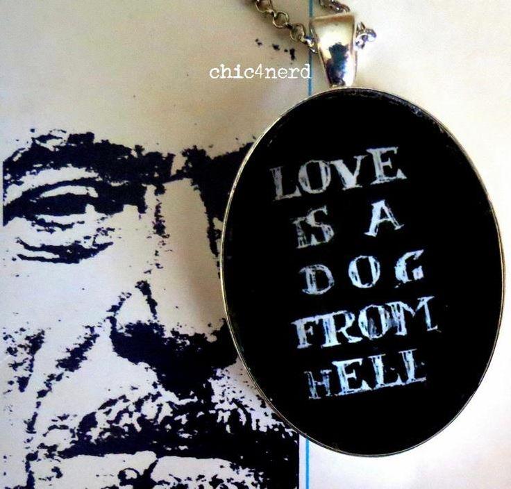 "Charles Bukowski ""Love is a Dog from Hell"" (L'amore è un cane che viene dall'inferno), 1977 #bukowski #love #dog #literature #poetry #cameo #bijoux #accessories"