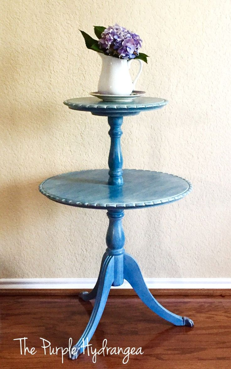 Pie Crust Table in Flow Blue. Duncan PhyfePurple HydrangeasPie Crusts Furniture ...