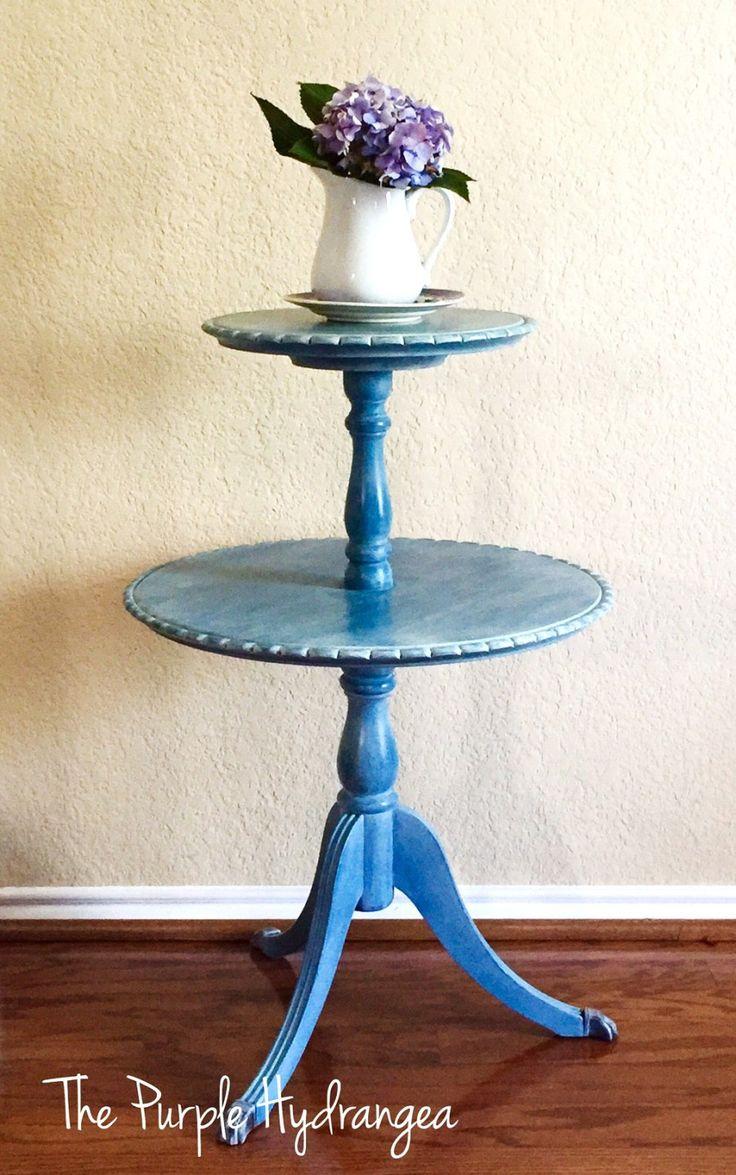 Pie Crust Table in Flow Blue - The Purple Hydrangea