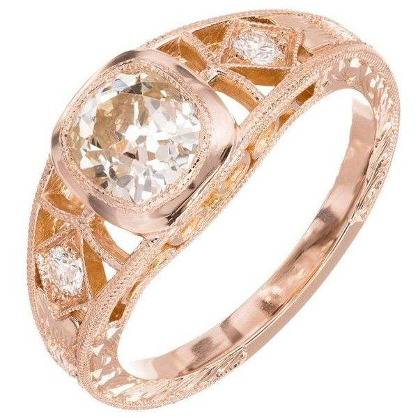 Preowned Gia Certified Peter Suchy 1.00 Carat Diamond Gold Men's Ring ($6,995) ❤ liked on Polyvore featuring men's fashion, men's jewelry, men's rings, multiple, wedding rings, rose gold mens wedding rings, mens wedding rings, mens yellow gold diamond rings, mens 18k gold rings and mens watches jewelry