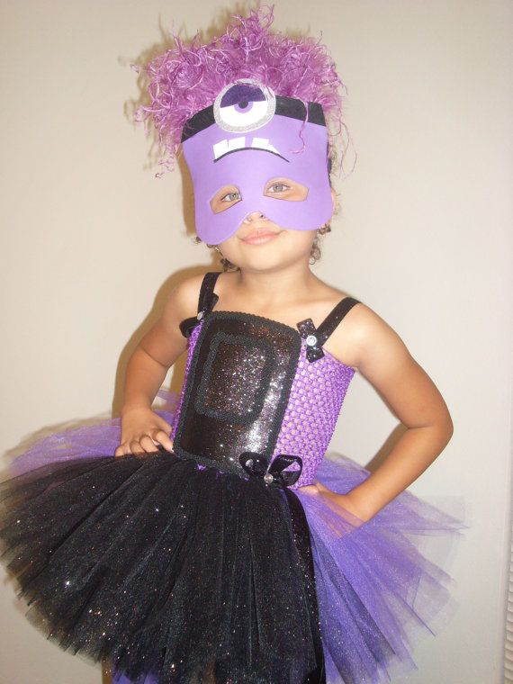Purple Minion...costume, tutu set, birthday, halloween ...