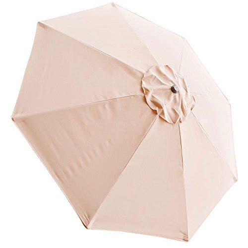 8 Ft Patio Umbrella Replacement Sunshade Canopy Outdoor Top Tan 8 Ft  Polyester Umbrella Replacement Canopy Air Vented Top UV Protect Sun Shade  Water ...