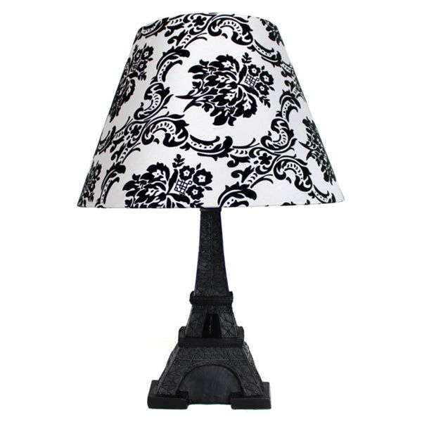 Simple Designs Paris Eiffel Tower Lamp and Printed Shade - Overstock™ Shopping - Great Deals on Table Lamps