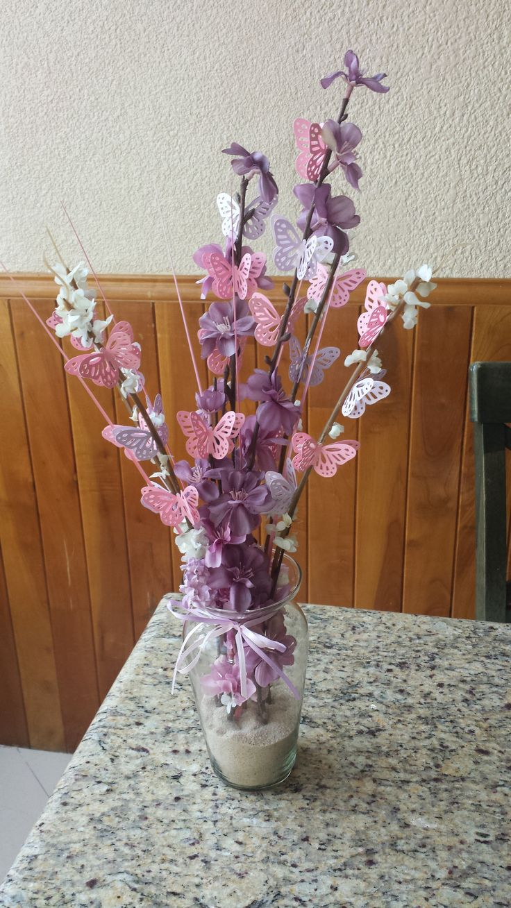 Baby shower butterfly centerpiece baby shower ideas for Baby shower centerpiece decoration