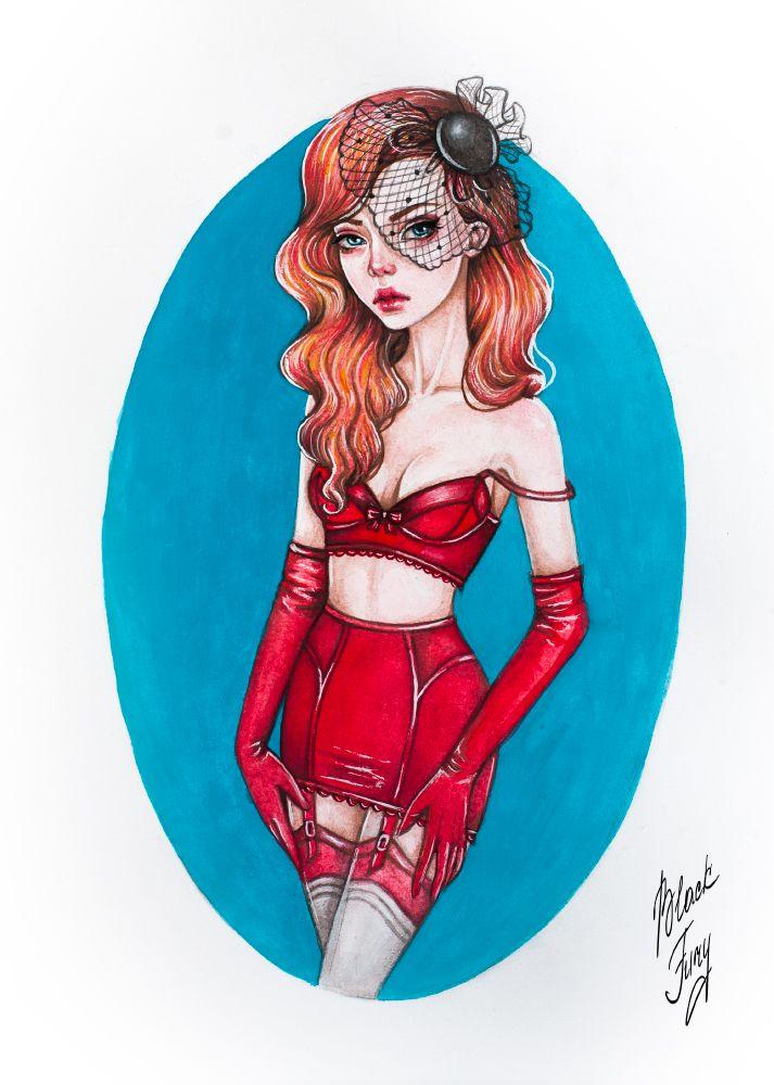 Lady in Red by BlackFurya.deviantart.com on @DeviantArt