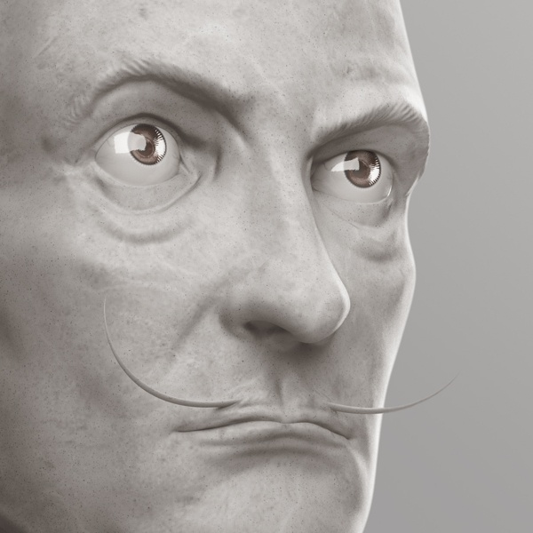 Visions - Portrait 4 // Dali by Nicolas Delille, via Behance
