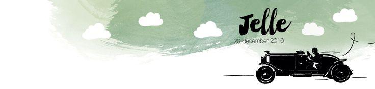 Collectie 2 | Gaafkaartje | Unieke geboortekaartjes | Illustratie | children Illustration | auto | jongen | groen | stoer