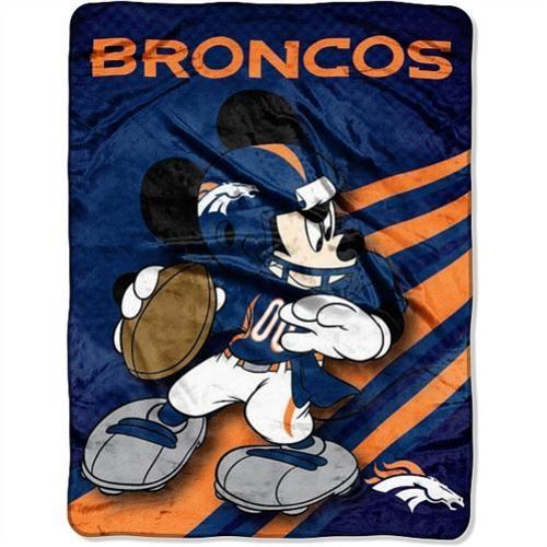 Disney Denver Broncos Plush Throw Cool Denver Broncos