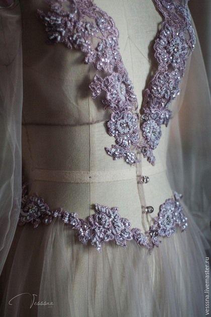 "Халаты ручной работы. Будуарное платье ""Smoky"". VESSSNA WEDDING. Ярмарка Мастеров. Свадебное платье москва, будуарное платье"