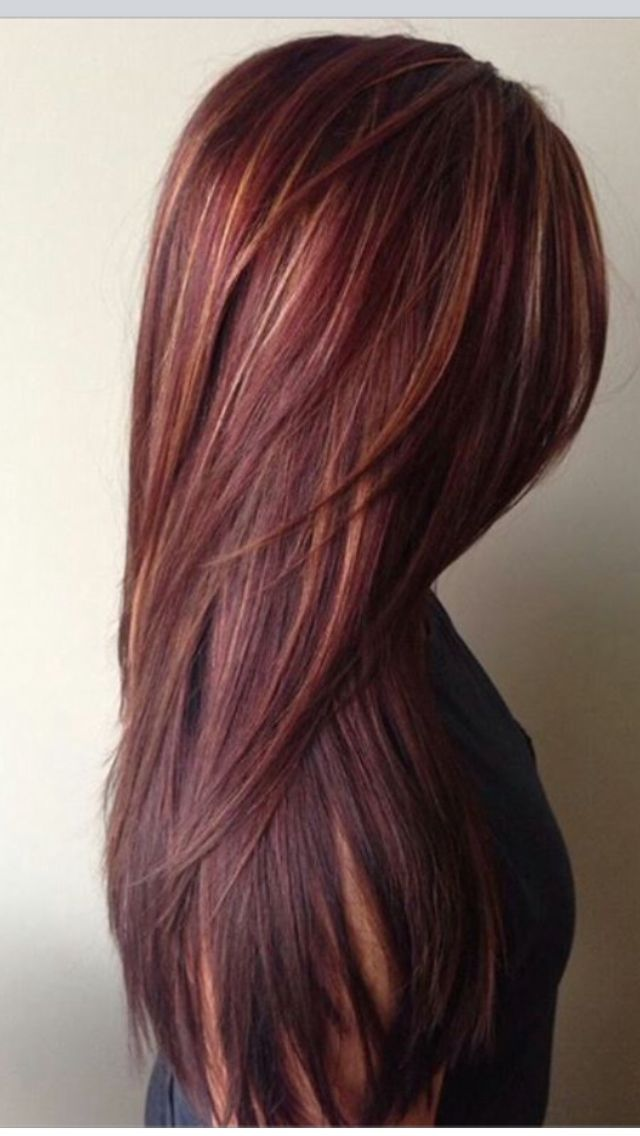 Red With Plum Undertones Hair Color Hair Pinterest