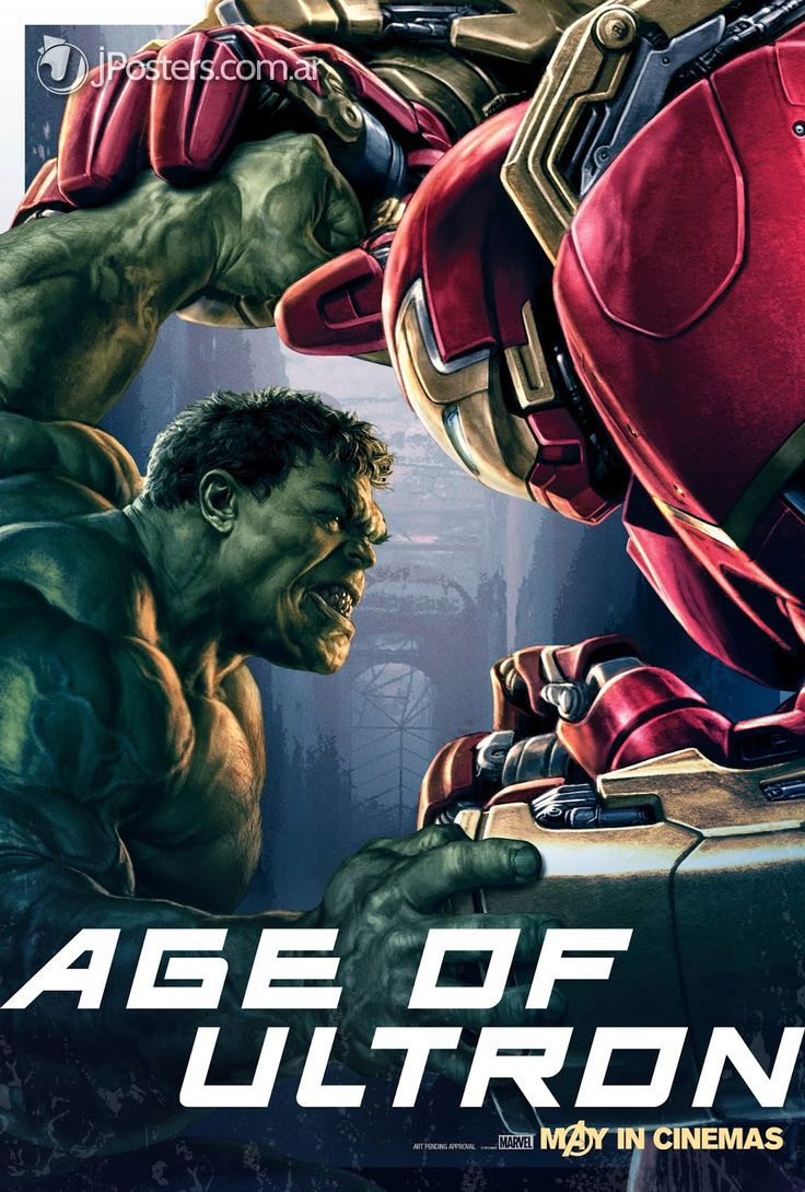 Hulk vs. Hulkbuster Iron Man - New AVENGERS: AGE OF ULTRON Character Promo Posters Revealed