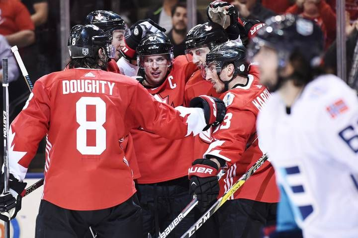 Canada slips past Europe in Game 1 of World Cup of Hockey final
