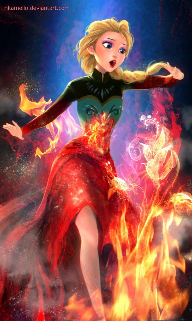 If Elsa is the queen of the flame by RikaMello. I love this!