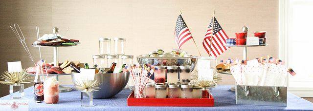 Fourth of July Party by Heather Christo, via Flickr: July Parties, Crafts Ideas, Blue Parties, 4Th Of July, 4Th July, Parties Ideas, 4Th Parties, Entertainment Ideas, Christo Cooking