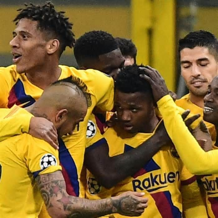Ansu Fati Barcelona Knock Inter Milan Out Of Champions League With 2 1 Win Get The Latest News For Barce Champions League Champions League Goals Inter Milan