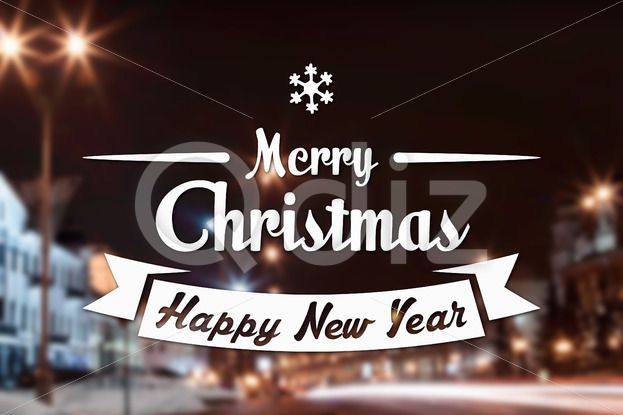 Qdiz Stock Photos | Merry Christmas and New Year greeting card,  #background #blur #blurred #building #card #celebration #Christmas #City #eve #greeting #happy #holiday #illuminated #Merry #new #night #postcard #retro #season #Street #traditional #vintage #winter #xmas #year
