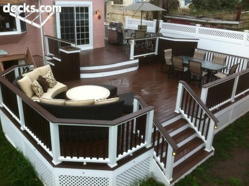 3 Color Deck Ideas : Best painted decks ideas on