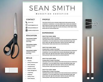 Word Resume Template - Editable Template - Free Cover Letter - Microsoft Word on Mac / PC - Design - CV Template - Instant Download