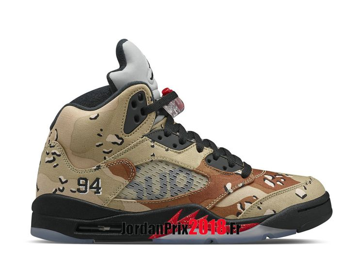 Chaussure Basket Jordan Prix Pour Homme Supreme x Air Jordan 5 Desert Camo  824371_201