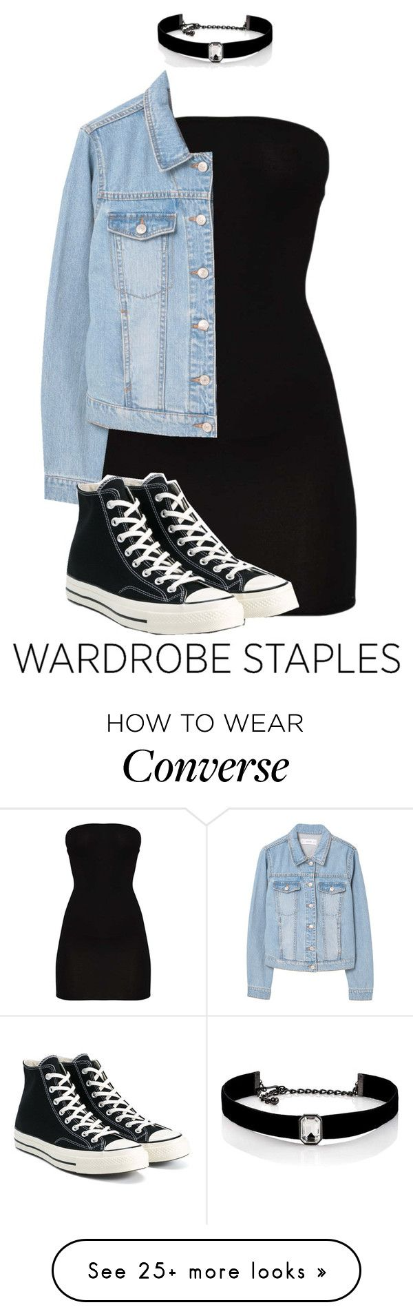 """Trusty Converse"" by abigxil on Polyvore featuring MANGO, Converse and Kenneth Jay Lane"