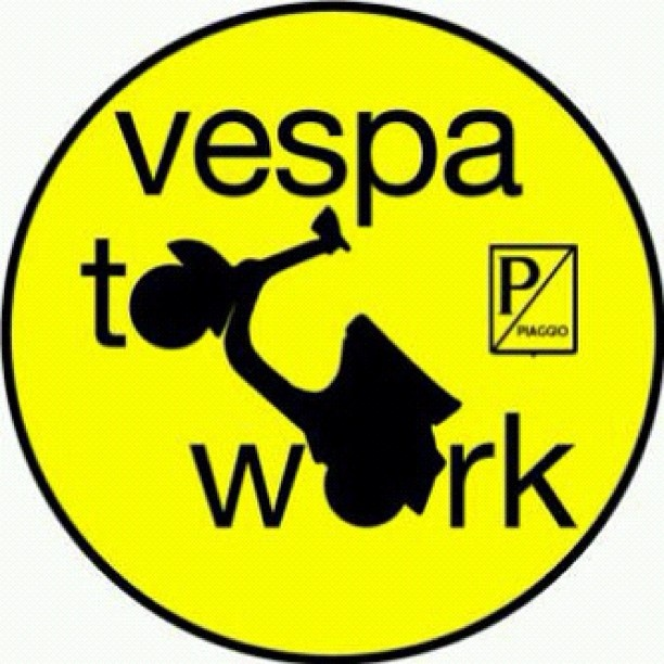 Vespa to work